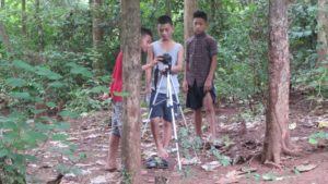 Young students setting up a Video shoot